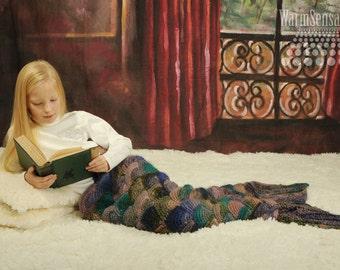 Mermaid tail blanket knitted Mermaid blanket kids Mermaid tail blanket adult Mermaid blanket fish tail blanket birthday gift Girl