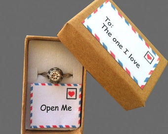 Proposal Ring Box, Marry Me Ring Box, Engagement Ring Box, Wedding Proposal, Alternative Ring Box, Hipster Engagement, Will You Marry Me