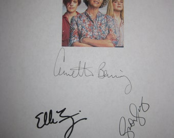 20th Century Women Signed Film Movie Screenplay Script X4 Autograph  Annette Bening Greta Gerwig Elle Fanning Billy Crudup signature