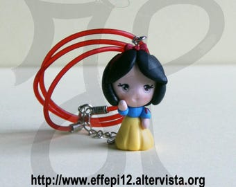 Princess snow white doll necklace