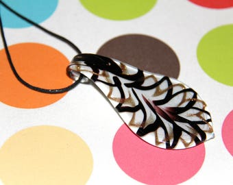 The pendant drop white Murano style glass