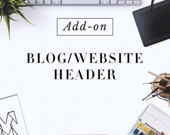 Custom Made Website Header Design  - Blog header design