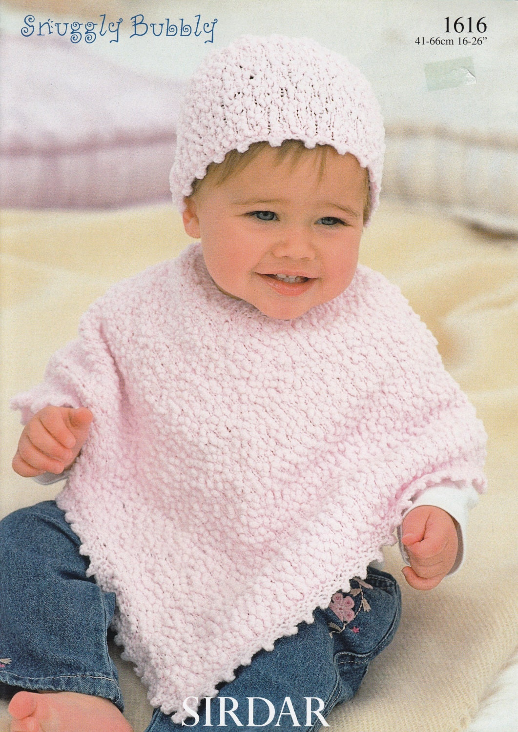Baby poncho knitting pattern sirdar snuggly bubbly 1616 zoom dt1010fo
