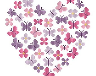 Ragtime Stitches - Butterfly Heart