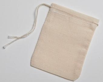 Fabriqué dans les Etats-Unis 3 x 4 pouce naturel mousseline sacs en coton