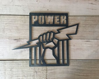 Port Power Football wall sign for the mancave