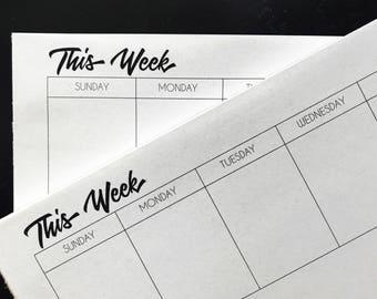 Week at a Glance Tear-off Desk Calendar