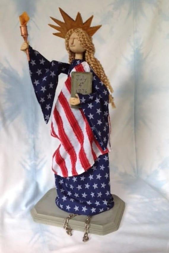Miss Liberty - Cloth Doll E-Pattern America's Lady Statue of Liberty 4 of July