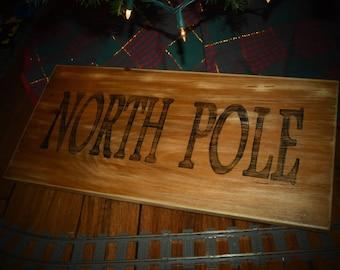 10x21 North Pole wood sign