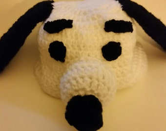 Snoopy inspired crochet beanie hat, gift, holiday, dog, Charlie Brown