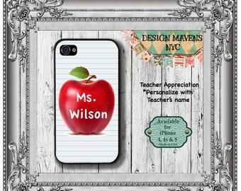 Teacher Personalized iPhone Case, Teacher Gift iPhone Case, iPhone 5, 5s, 5c, 4, 4s, iPhone 6 6s, 6 Plus, SE, iPhone 7, 7 Plus, Galaxy S6