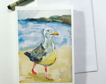 Seagull, 5x7 card, Ready to Ship greeting card