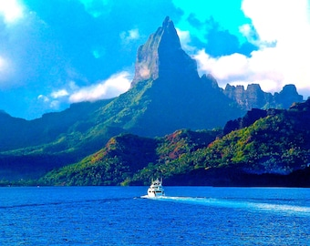 Mo'orea, Tahiti-Fine Art Photo Blank Greeting Card--Suitable for Framing-Protected by Copyright