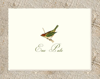 Bird Lover Stationery - 25 folded notes & envelopes; Personalized Bird Notes; Personalized Stationery;  Bird Stationery and Envelopes