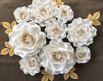 ALL about ROSES Paper flower backdrop/Paper flower wall/Wedding Backdrop/Bridal Baby shower/Nursery decor/Baby room deco/Christening/Baptism