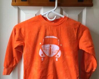 Kids Car Shirt, Orange Car Shirt, Kids Beetle Shirt, Boys Car Shirt, Girls Car Shirt, Kids Volkswagen Shirt, Orange Beetle (4T)
