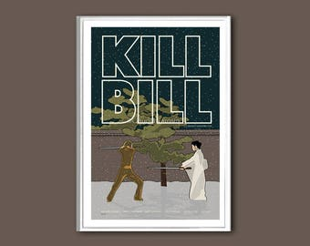 Kill Bill movie poster print in various sizes