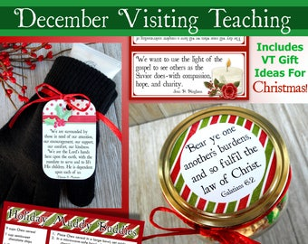 December 2017 Visiting Teaching Message and Printables, LDS Relief Society, Instant Download, VT Message