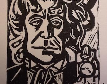 Dr. Bowman (Eighth Doctor) Linocut Print
