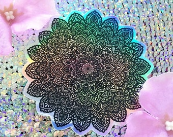 Holographic Mandala Sticker #4