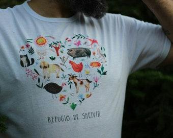 Animal T-shirt refuge Heart