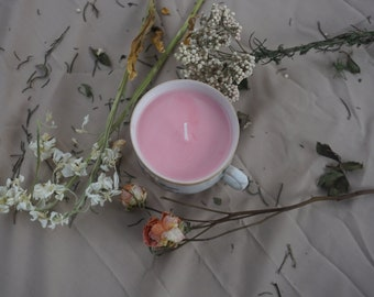 Pink Coffee Cup Soy Candle