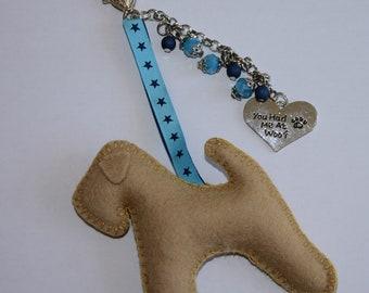 wheaten terrier bag charm