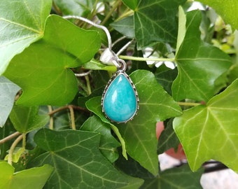 925 sterling silver pendant with sky blue amazonite-amazonite gemstone,amazonite jewelry, amazonite accesories