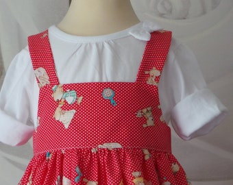 all 12 months cotton dress with matching bloomers