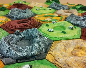 SALE: 3D Settlers of Catan resource tiles