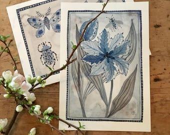 Tulipa Nr. 2, original-Aquarell, botanischen Malerei, Blumenkunst
