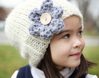 Knitting Pattern, Slouchy Hat Pattern, Easy Knit Hat Pattern Beginner Pattern Instant Download PDF Knitting Pattern Child to Adult sizes AVA
