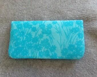 Fabric Checkbook Cover - Blue Batik