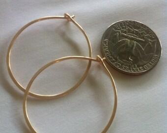 Linnea, Modern GoldFilled Hoops Earrings