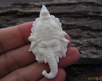 New ARRIVAL  Ganesha Pendant , side Drilled, Focal Pendant, Bali Handmade supplies B5493