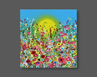"""Original Painting 'Under The Sea' in Acrylic Painted on High Quality Boxed Canvas (20"""" x 20""""/ 600mm x 600mm)"""
