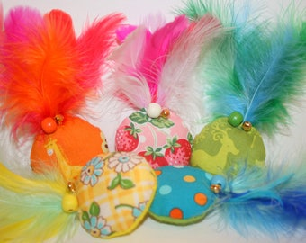 """""""Pineapple"""" Feather cat toys"""