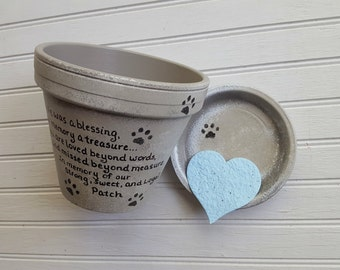 Sympathy Pet Gift - Large Planter - Dog Memorial Gift - Painted Flower Pot - Pet Memorial Planter - Cat Memorial Gift