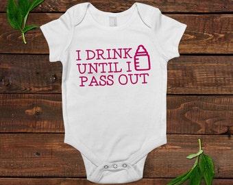 Funny Baby Girl 1 piece bodysuit - Newborn Baby Girl Gift - New Baby Girl Pink Shirt