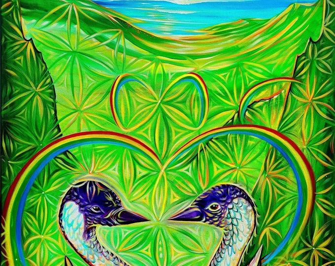 Nēnē ~ Prints ~ Painted Live on Maui during 'Myths of Avalon' Halloween weekend! . 2017