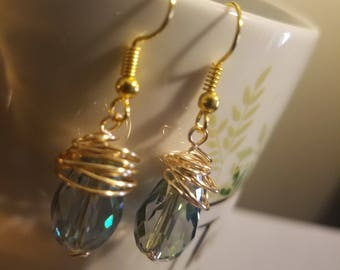 Clearly Wrapped Up In You Dangle Earrings