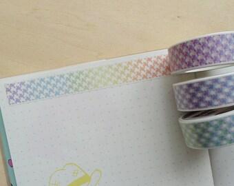 Rainbow Houndstooth Washi Tape