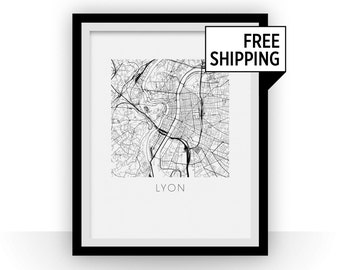 Lyon Map Print