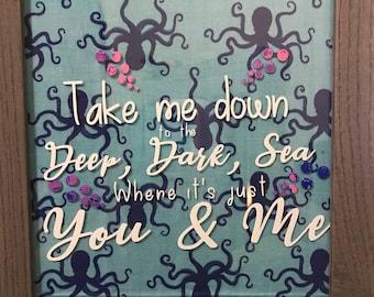 Octopus wall decor