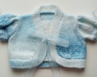 Reborn Baby Doll Clothes* Baby Cardigan*Handmade*3 Months Size