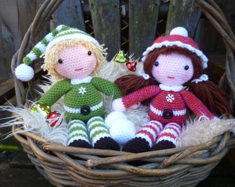 Beau and Belle Christmas Winter Dolls - Amigurumi Crochet Pattern