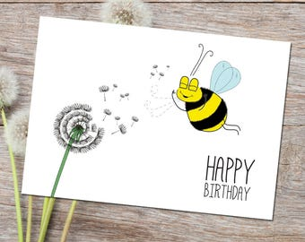 Make A Wish PRINTABLE / DIGITAL Card