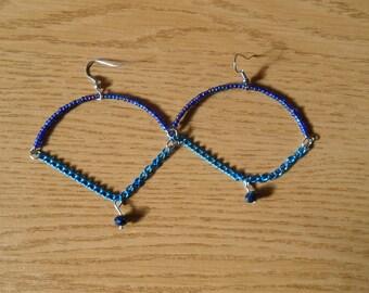Blue Hanger Earrings