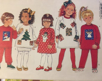 Toddlers' Dress, Top, Skirt, and Pants Sewing Pattern Butterick 4161   Size  1-2-3 Uncut Complete