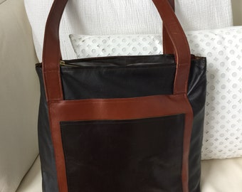 Zippered and Lined Italian Leather